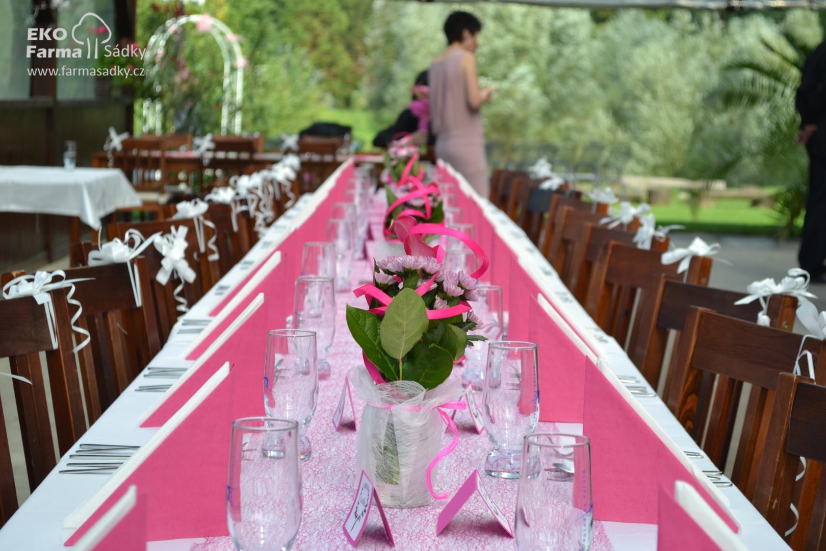 Svatba V Ruzove Barve Inspirace Agropenzion Sadky