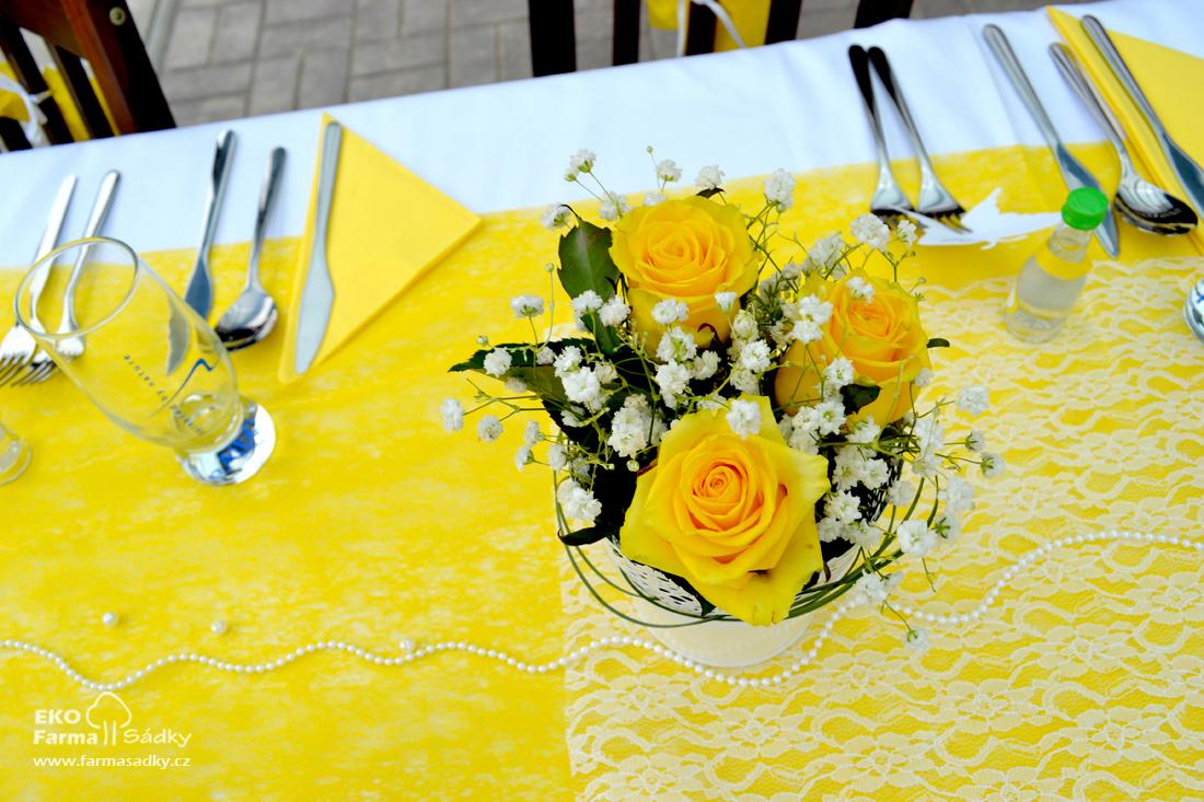 Svatba Ve Zlute Barve Inspirace Agropenzion Sadky